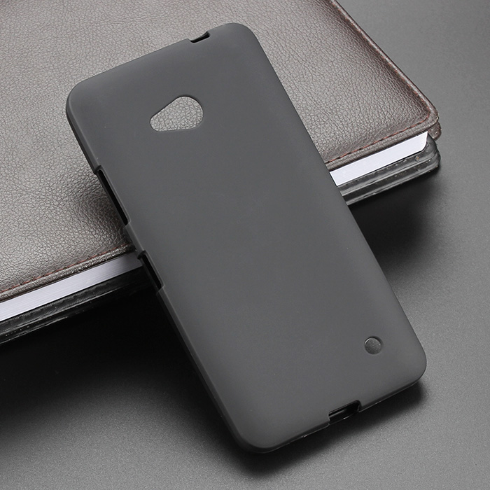 Black Gel TPU Slim Soft Anti Skiding Case Back Cover For Microsoft Nokia Lumia 6