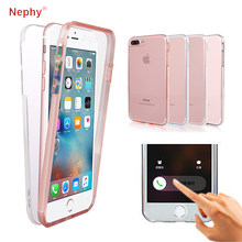 360 Degree Full Body hard PC + Silicone Case for iPhone X XS Max XR 5 5s 5SE iPhone 6 S 6Plus iPhone 7 8 7Plus 8Plus Phone Cover(China)