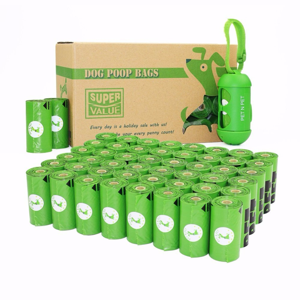 Dog Poop Bags Earth-Friendly 720 Counts 48 Rolls Green Unscented OXO-Biodegradable Cat Waste Bags With Dispenser Garbage Bag