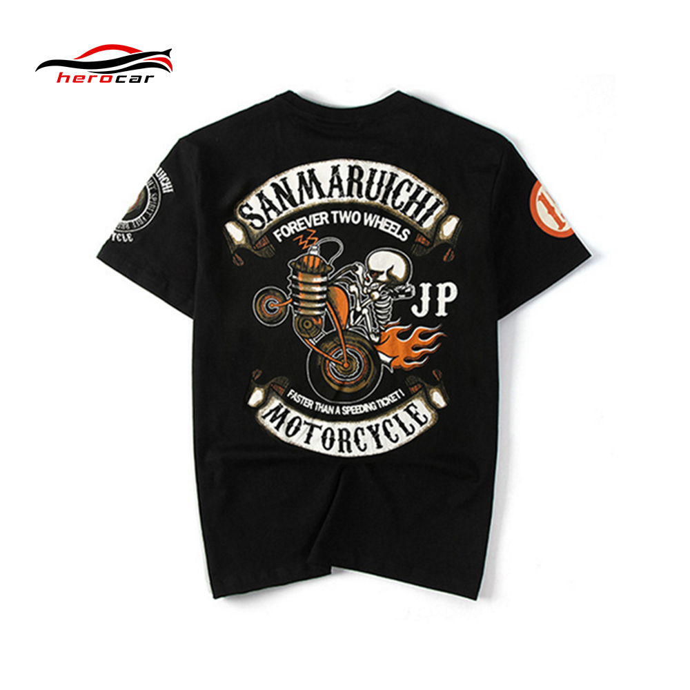 Summer Men T-shirt Motorcycle Sport Short Shirt Motogp Motocross Racing Cotton Camiseta Moto Fitness moto gp shirt Male T Shirt 5902001399 men s stylish custom fitting cotton blended shirt black m
