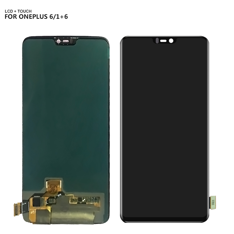 LCD Display For Oneplus 6 Six One plus 6 Digitizer Touch Screen Lcd Display With Frame Repair PartLCD Display For Oneplus 6 Six One plus 6 Digitizer Touch Screen Lcd Display With Frame Repair Part