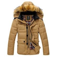 Плюс большой размер M-3XL новых людей толстые зима снег теплый белый утка пуховик пальто для мужчин, 3 цветов, Jp825608, Бесплатная доставка
