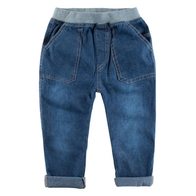 Nuevo 2016 del otoño del resorte de los niños que arropan bebé pantalones vaqueros niños pantalones nuevos niños coreanos vaqueros versión comercial 4-11 años
