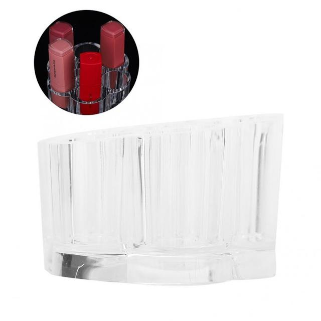 Portable Transparent Mini Lipstick Rack Acrylic Makeup Organizer Holder Jewelry Storage Box Make Up Kit Makeup s