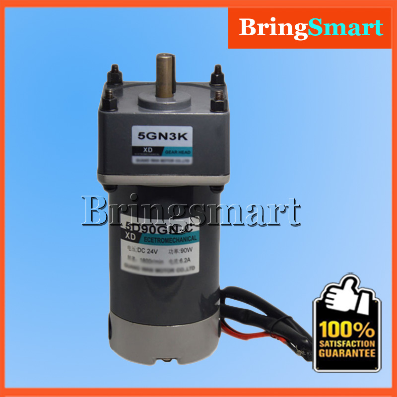 5D90GN-C 12V 24V DC Geared Motor 90W High Torque DC Permanent Magnet Motor Adjustable Speed Reversible Electric Engine цена