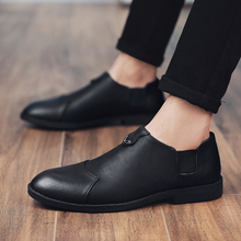 New Fashion 2018 Spring/autumn Hot Casual Microfiber Shoes Men Hard-wearing Comfortable British Style Mens Size 38-44 Gg3