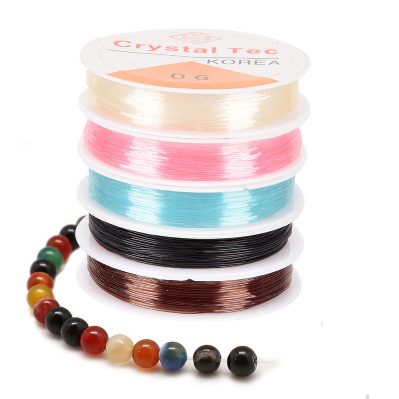 0.6mm 1M Spool Of Crystal Clear Stretch Elastic Beading WireCordStringThread DIY Jewelry Making