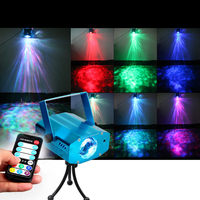 Mini Seven Color Remote LED R G Ripple Effect Party DJ Club Disco Stage Laser Light