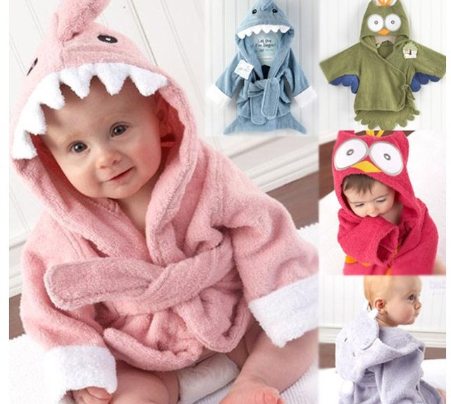 Hot Fashion Children s 5 Style Cute Animals Bathrobe Kids Robe for Boys Girls  Baby Soft Bath Robe Towel Free Children s Pajamas 46a00a7cf
