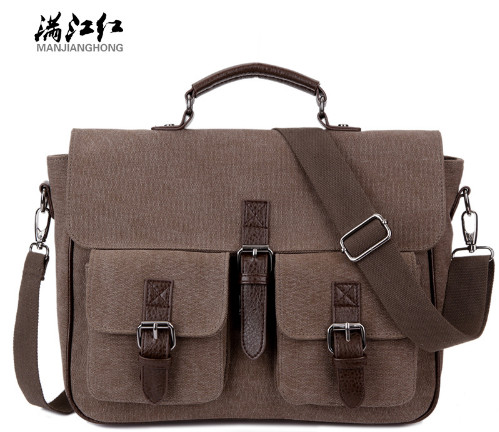MANJIANGHONG Office Man Briefcase Bag Casual Business Men's Bag Documents Canvas Shoulder Bag Messenger Bags Rucksack man s casual canvas shoulder bag messenger bag coffee white