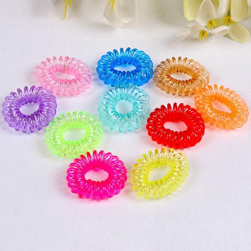 Meetcute 10PCS New Elastic Tie Wire Plastic Spiral Coil Hair Ties Rope  Ponytail Hair Clips Hairpins For Women Hair Rubber Bands -in Hair Jewelry  from ... c9c77bf0ac6