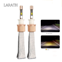 H1/H3/H4/H7/H11//880/881/9012/9005/9006/ LED Car Headlight Bulb 45W 5500LM 6000K 3000K Dual Color Auto LED Headlamp Fog Lamp