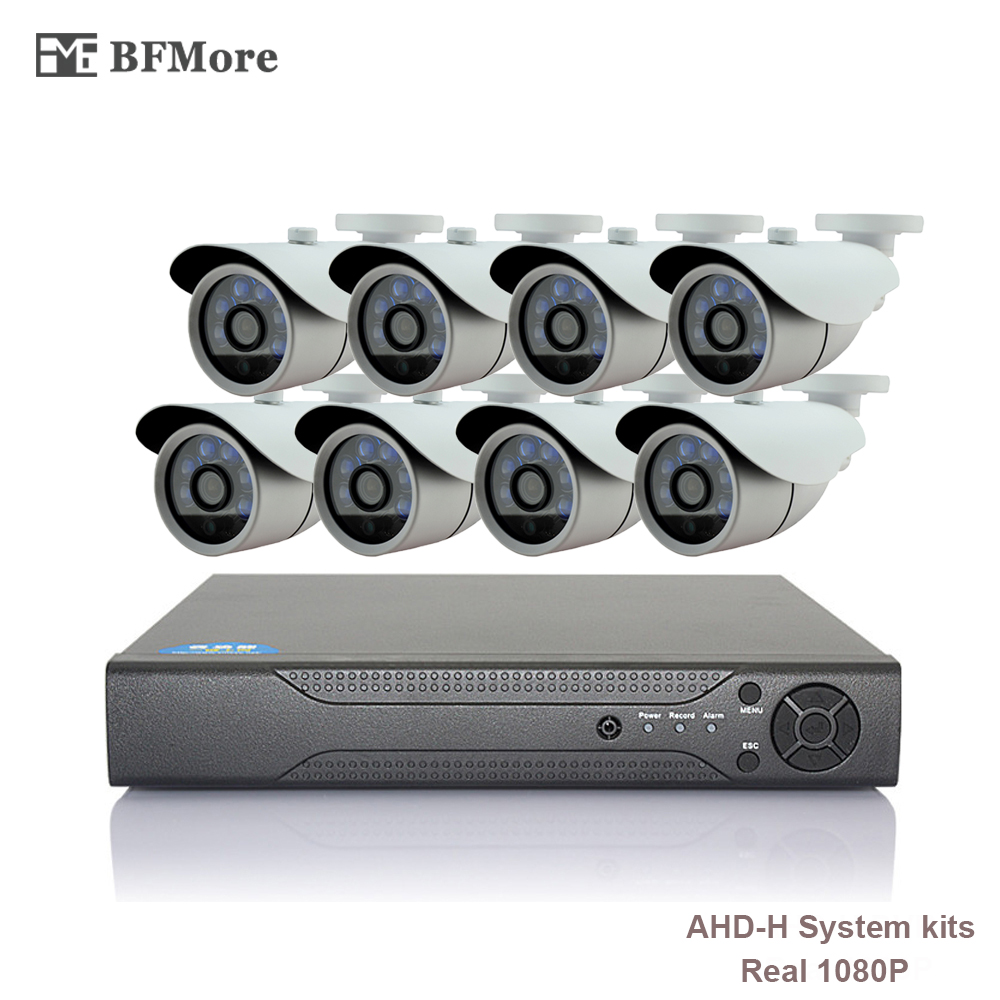 BFMore 8CH AHD 1080P-H CCTV System 2.0MP HDMI AHD CCTV DVR IR Outdoor Security Camera Camera Surveillance Kit Email FTP p2p xeye 8ch cctv system hdmi dvr 1080p nvr cctv security camera system 4 pcs ir outdoor video surveillance camera kits h view