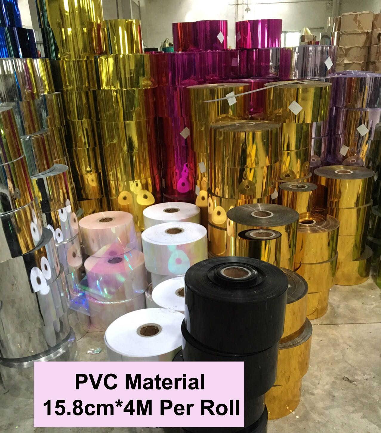 Payetler levha Sequins hammadde gevşek PVC payetler keyfi kesme DIY el sanatları için düğün sahne düzenleme rulo