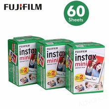 Fujifilm Instax Mini Film White Edge 60 Sheets/Packs Photo Paper for Fuji instant camera 8/7s/25/50/90/sp 1/sp 2 with Package