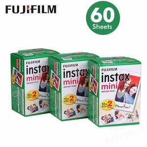 Image 1 - Fujifilm Instax Mini Film White Edge 60 Sheets/Packs Photo Paper for Fuji instant camera 8/7s/25/50/90/sp 1/sp 2 with Package
