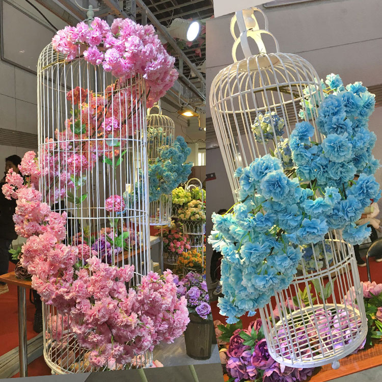 New 2016 beautiful artificial cherry blossoms flower silk wisteria new 2016 beautiful artificial cherry blossoms flower silk wisteria vines wedding decoration flower bouquet 1pcs in artificial dried flowers from home junglespirit Gallery