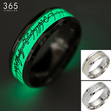 Stainless steel The Lord Of One Ring Fluorescent Glowing Logo Finger Rings For Women