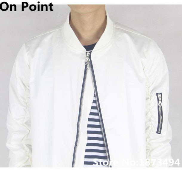 White Bomber Jacket Mens Photo Album - Reikian