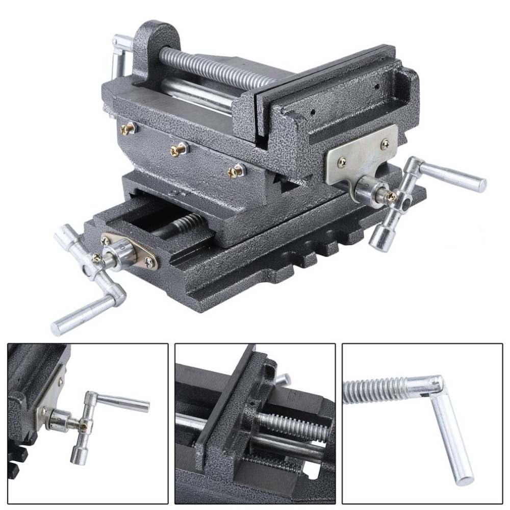 New Compact Bench Clamp 2-Axles Cross Working Table Vice For Drilling Milling Machine Professional 6 Inch Bench Vise цена