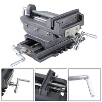New Compact Bench Clamp 2 Axles Cross Working Table Vice For Drilling Milling Machine Professional 6 Inch Bench Vise