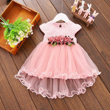 IYEAL Newborn Wedding Party Baby Girl Rainbow Gowns