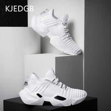 Thick-Soled-Shoes Chunky Sneakers Platform Spring Black Male White Breathable Summer