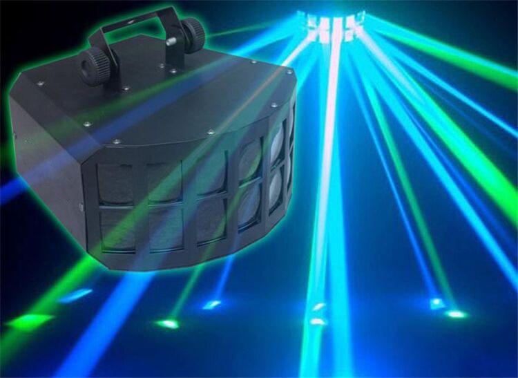 Ocasión RGBW 4IN1 2X10W Discos profesionales Bar Club fiesta boda iluminación para escenario LED mariposa doble haz DJ discoteca Luz Tuya ZigBee, dispositivo inteligente para hogar con entrada, dispositivo compatible con aplicación add, Control de luz inteligente ZigBee 3,0, mando a distancia inalámbrico