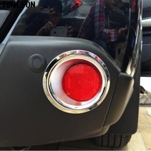 TOMEFON For Nissan X-TRAIL T31 Rear Fog Lights Cover Trim Tail Lamp Decoration X TRAIL 2008 to 2013 ABS Chrome Car-styling