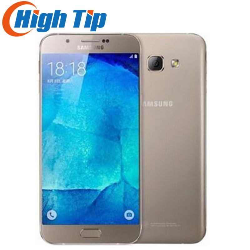 "Original Unlocked Samsung Galaxy A8 A8000 Mobile Phone 5.7"" Octa Core 16.0MP Camera Android 5.1 2GB RAM 16GB ROM refurbished"