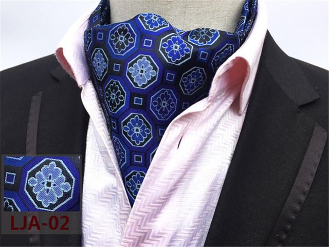 Cityraider Paisley Print Designer Men S Silk Cravat Wedding Cravats New Blue Mens Ascot Ties For