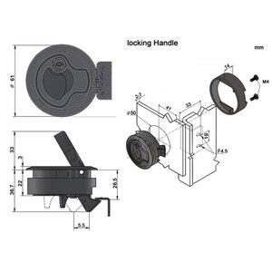 "Image 5 - 4 Pcs 2 ""Kunststoff Flush Pull Slam Verriegelungen Set(2 mit schloss + 2 kein schloss) runde Deck Schloss Haspe Fahrstuhl Ring Griff Yacht Zubehör"