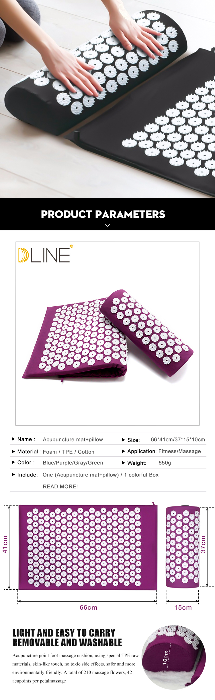 Acupressure Yoga Mat for Relieve Back Body Pain – Spike Acupuncture