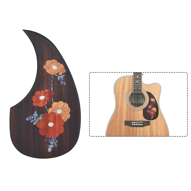 US $8 14 40% OFF|Wooden Acoustic Guitar Pickguard Pick Guard for 40