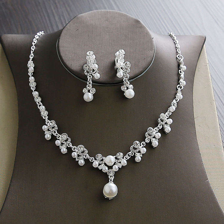 Wedding Sets for Women Bling Bride Hair Accessories Tiaras Earrings Necklace Wedding Jewelry Sets (6)