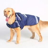 Golden Retriever Samoyed husky büyük köpek yağmurluk bacaklar su geçirmez taşınabilir pet köpek giysileri