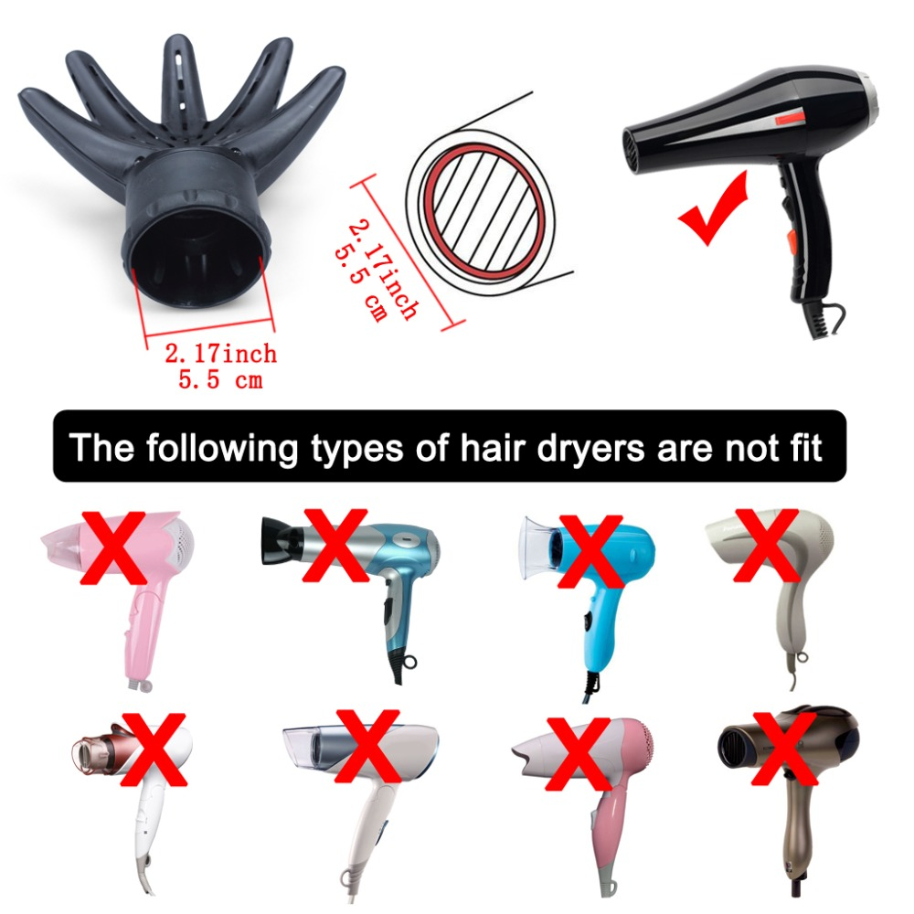 Hand Shape Hair Blow Dryer Diffuser Professional Hairdressing Salon Accessory for Shine Smooth Sleek Curling Wave Drying Tool (10)
