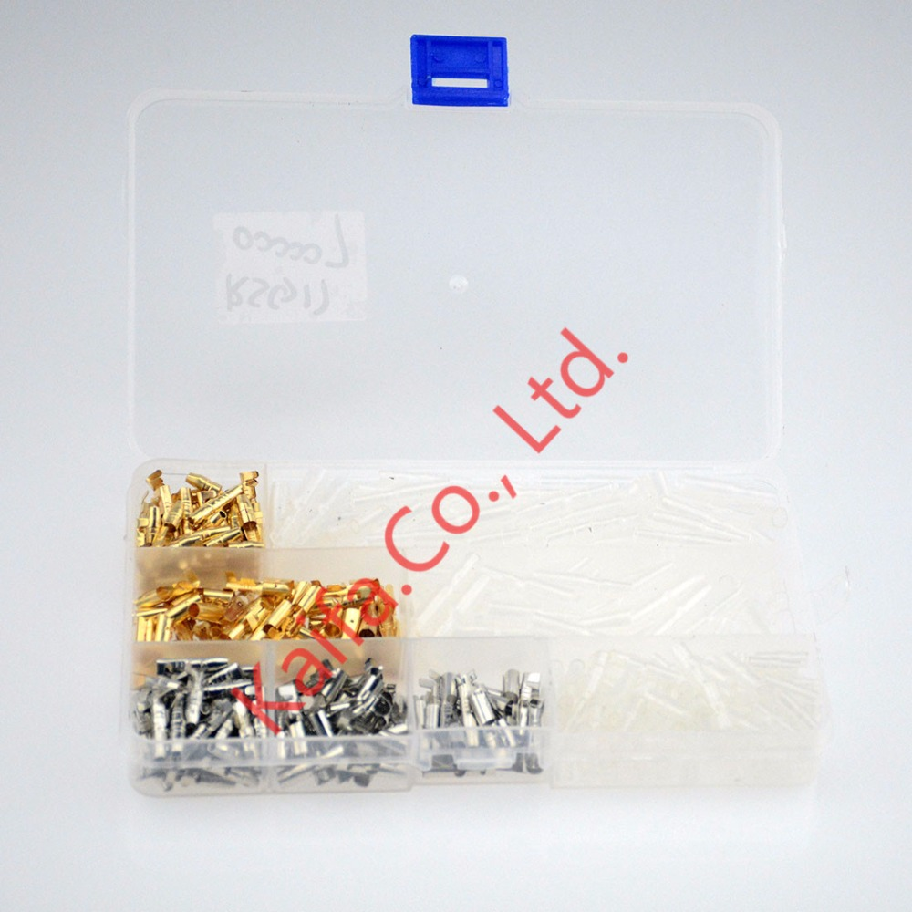 400pcs plug spring connector line terminals of male and female ear docking connector insert terminal + sheath