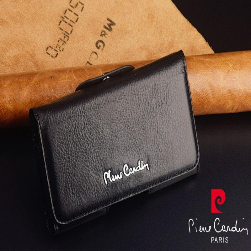Pierre Cardin 9 Da Tampa Do Caso Para Samsung Galaxy Nota Caso Clipe De Cinto de Couro Genuíno Do Vintage Saco Do Telefone Móvel Preto Livre grátis