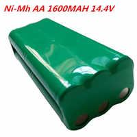 Aa 14.4v 1600mah ni-mh bateria recarregável fo papago s30c inteligente varrendo robô vone t285d aspirador de pó bateria