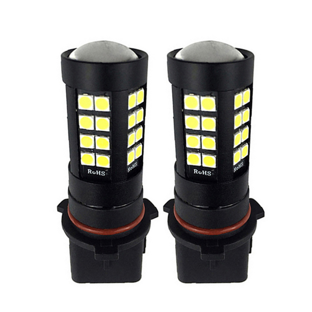 2PCS Car LED P13W PSX26W Super Bright 3030 SMD 44 Leds Car Front Fog Light Auto Driving DRL Daytime Running Lamp Bulbs 12V White