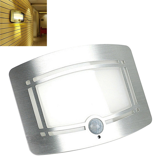 Novelty Wall LED Night Light Wireless Infrared Motion Sensor Battery Powered Lamp for Porch Closet Bedroom Living Room Lighting