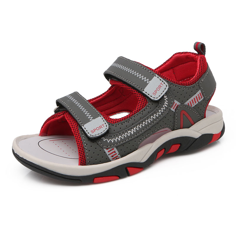 2017Summer New Boys Outdoor Beach Sandal Casual Kids Leather Shoes Designer Brand Quality Children Fashion Comfortable Shoes