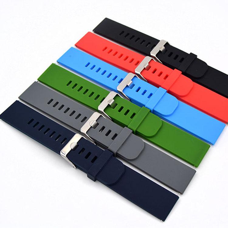 Prix pour Libération rapide bracelet 18mm/20mm/22mm pour motorola moto 360 2 gen 46mm samsung gear2 r380-r382 silicone en caoutchouc bande bracelet