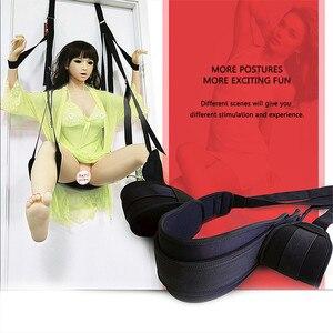 Image 3 - Móveis de balanço para sexo adulto, cadeira de pendurar sexo com almofada para casal de flerte e almofada para perna, amor sexual adulto jogo jogo tabuleiro