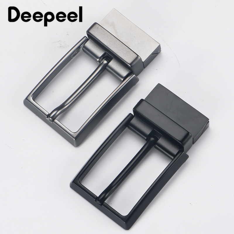 Deepeel Men's Alloy Belt Buckle Rotating Tail Clip For 33mm Belt DIY Leather Business Casual Clothing Decor Accessories BD362