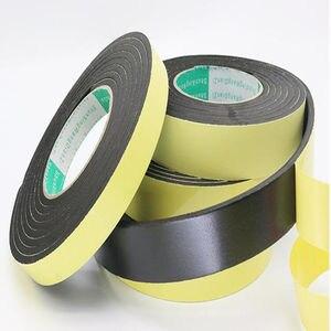 Image 2 - Strong adhesion  EVA black sponge foam  rubber tape  anti collision seal strip 1, 2, 3mm thick