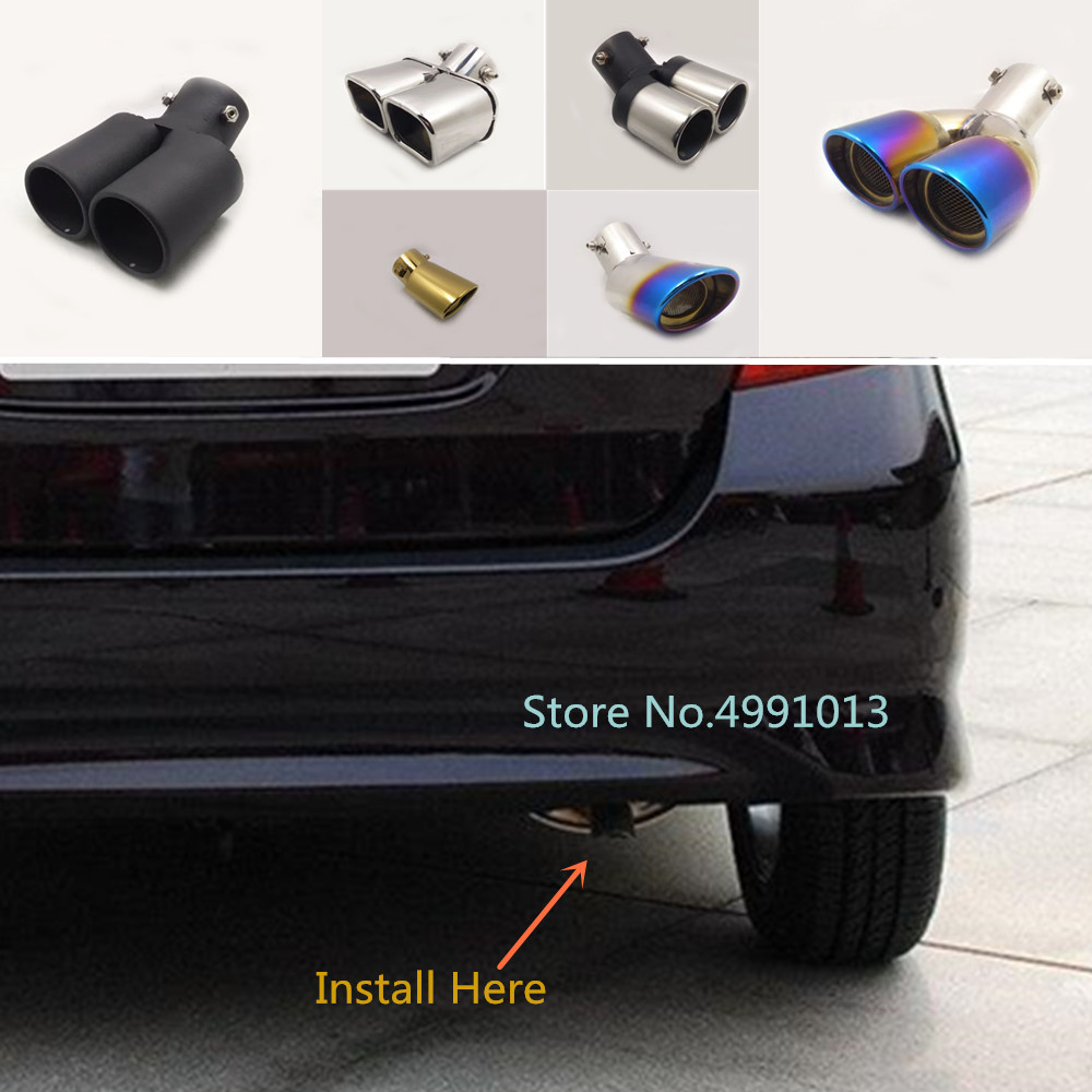 for honda fit jazz 2004 2005 2006 2007 2008 2009 2010 cover muffler exterior end pipe dedicate exhaust tip tail outlet ornament
