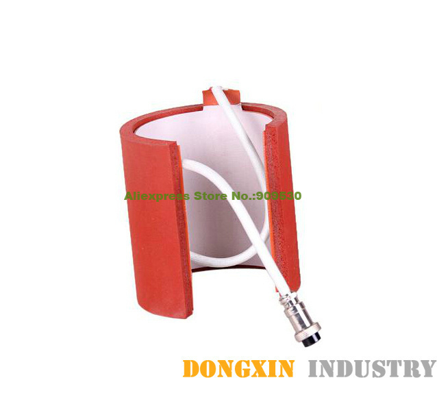 ФОТО 7.5-9.5CM standard Size Cylinder Shape Silicone Mug Heating Pad/Mat for sublimation machine