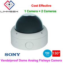 Lihmsek 130 Degree Wide Angle Lens Fisheye Security Analog Camera / 700tvl CCD Effio CCTV Camera Security System Product(China)